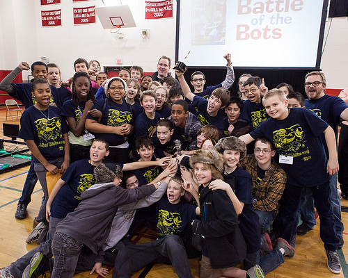 Young innovators dazzle crowd at the OPEF Battle of the Bots