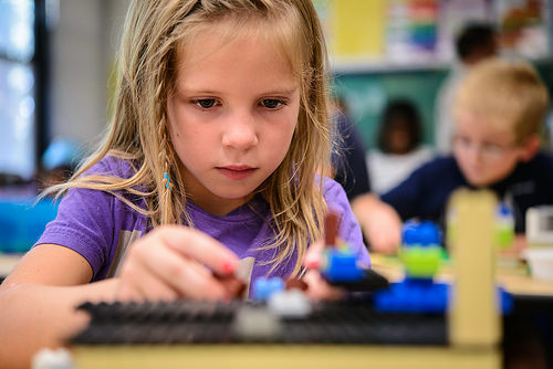 Longfellow and Holmes 2nd graders build communities with LEGOs