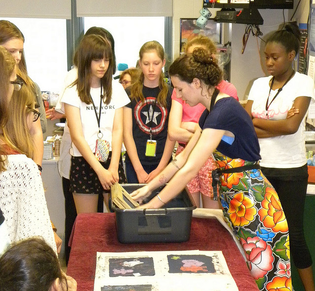 Brooks students learn about paper making with Art Start