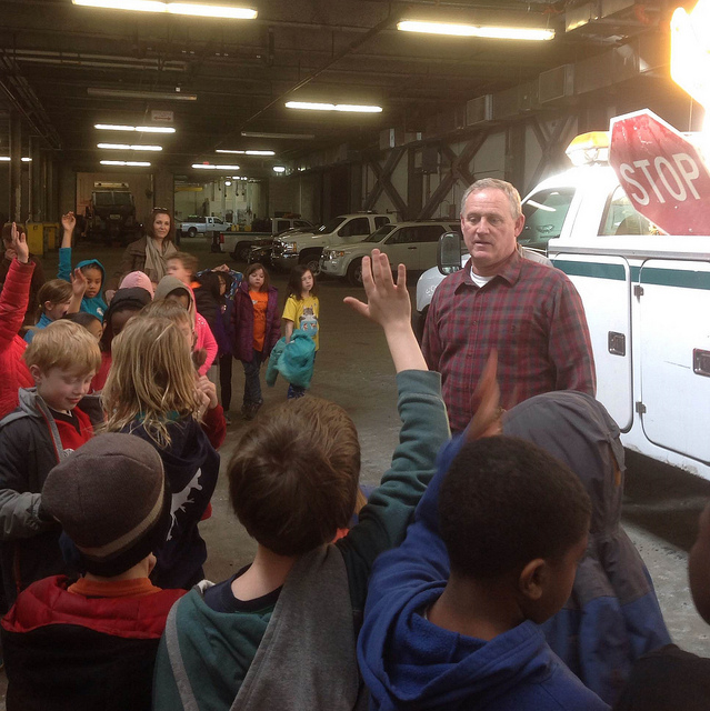 OP Public Works Center hosts Geared Up 3rd graders