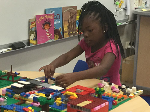 Longfellow second graders make LEGO communities