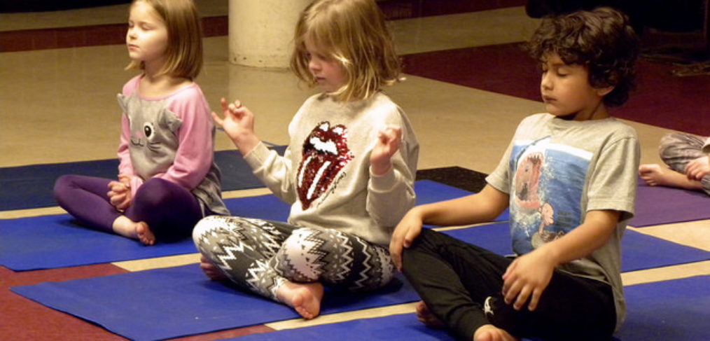 kids in yoga pose