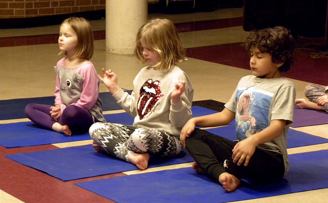 Holmes First Graders Go Zen with Weather & Yoga