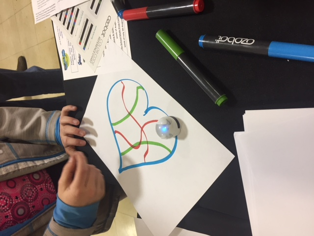 Ozobots & Architecture at Holmes STEM Night