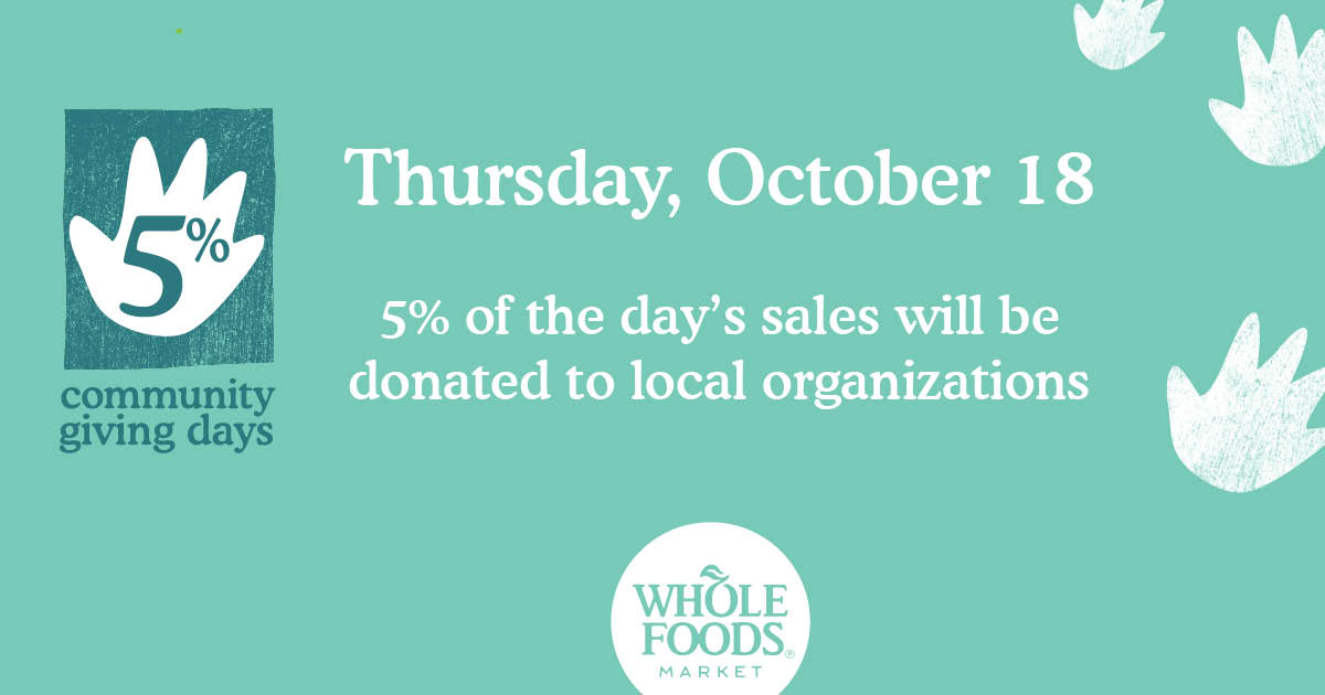 Shop, Enjoy, & Donate with Whole Foods
